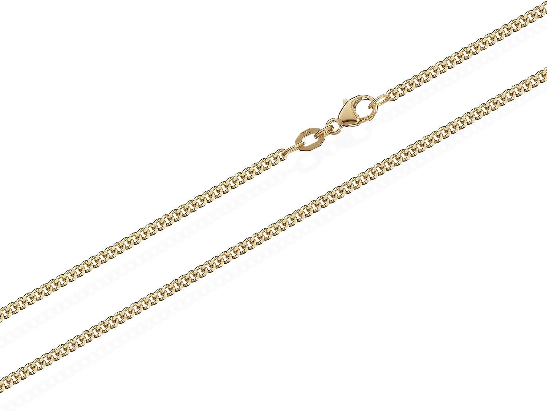 Cha/îne de bordure NKlaus 750 cha/îne en or jaune massif 5873 1,4mm de large 3g 36cm de long