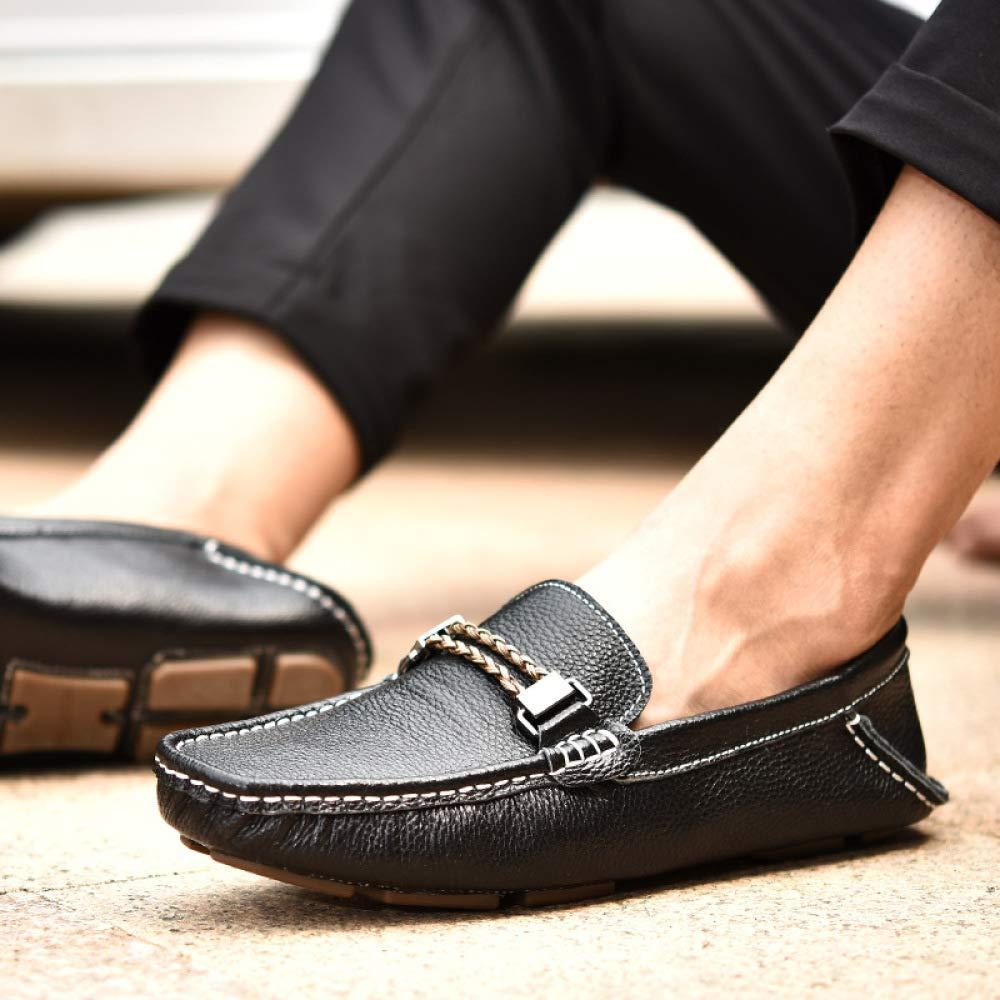 WLFHM Peas Leder Frühjahr und Sommer Schuhe Herrenmode Freizeitschuhe Freizeitschuhe Freizeitschuhe Herren Fahr Schuhe schwarz b1aa2a
