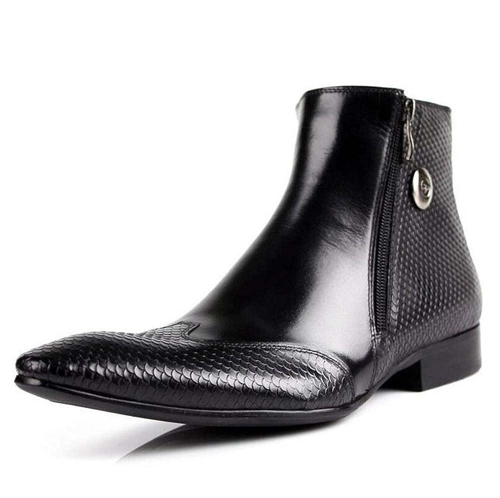 Herren Stiefeletten British Geschäft Trend Spitz Stiefel Kurze Röhre Lederstiefel Martin Stiefel