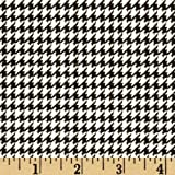 A.E. Nathan Comfy Flannel Houndstooth Black