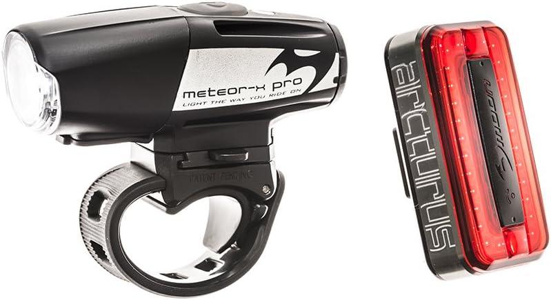 Moon Meteor-x avant Auto et Arcturus Pro arrière vélo//vélo//cycle light set