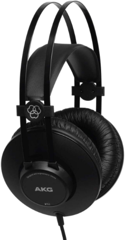AKG K52 Circumaural Diadema Negro - Auriculares, 18 - 20000 Hz, 200 mW, 110 dB, 32 Ω