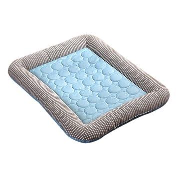 Zhuomei - Almohadilla Antideslizante para Cama de Perro, para Asiento de Mascota, Colchón de Refrigeración para Dormir: Amazon.es: Productos para mascotas