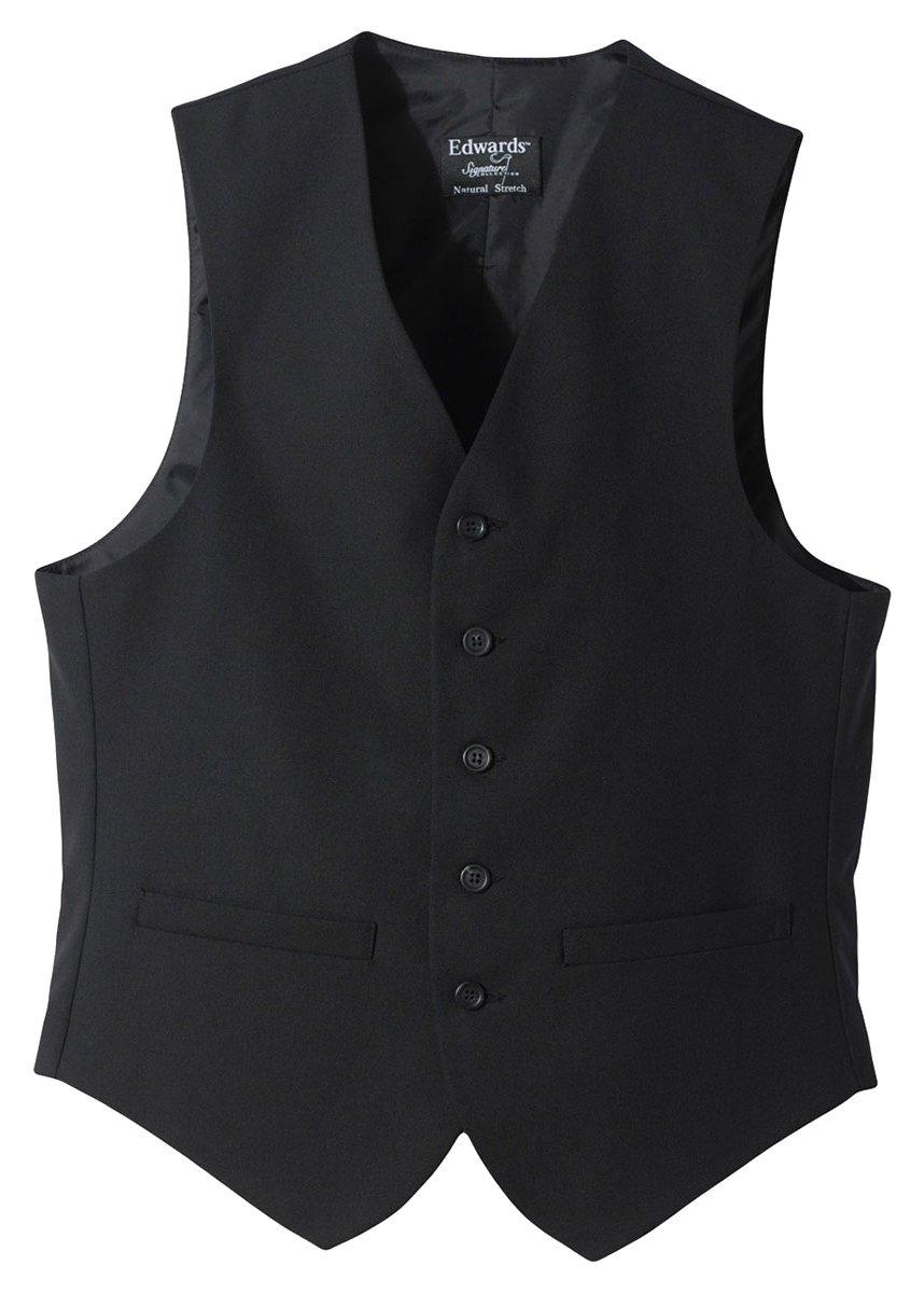 Edwards Garment Men's Fully Lined Wool Blend Dress Vest, Black, Medium by Edwards Garment