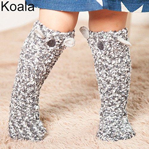 Price comparison product image HEART SPEAKER Cute Cartoon Baby Toddler Girls Boys Leg Warmer Knee High Floor Socks Stockings (Koala)