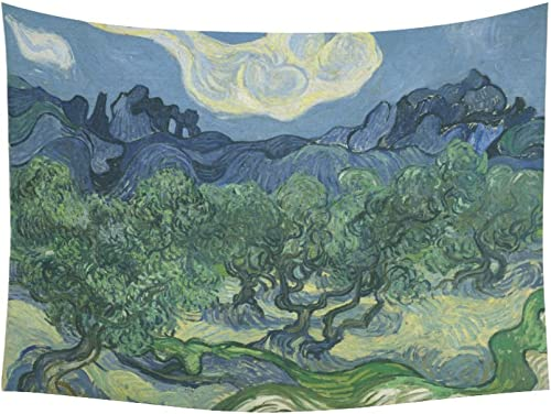 Artsadd Custom Tapestry Van Gogh The Olive Trees Cotton Linen Wall Tapestry 80 X 60