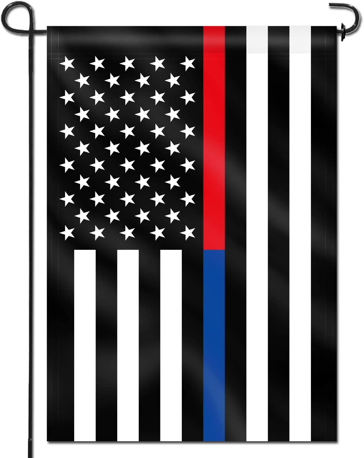Anley Double Sided Premium Garden Flag, Thin Blue and Red Line USA Decorative Garden Flags - Weather Resistant & Double Stitched - 18 x 12.5 Inch
