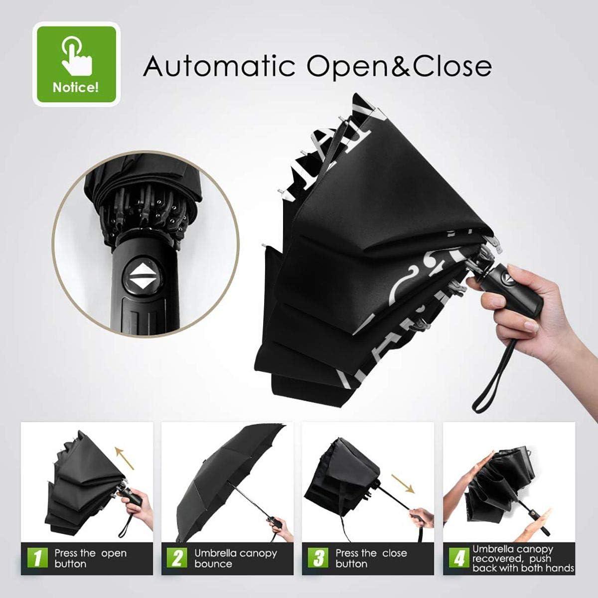 Santana Sun Protection Umbrella,Waterproof Travel Automatic Tri-fold Umbrellas