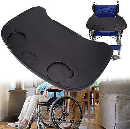 Vassoio per sedia a rotelle, anti caduta di plastica spessa