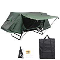 Yescom Single Tent Cot Folding Portable Waterproof Camping Hiking Bed Rain Fly Bag