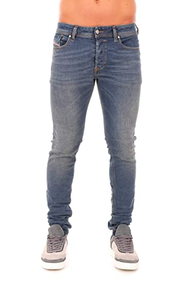 dc174214 Diesel Mens Sleenker Slim Skinny Jeans in Vintage Blue: Amazon.co.uk:  Clothing