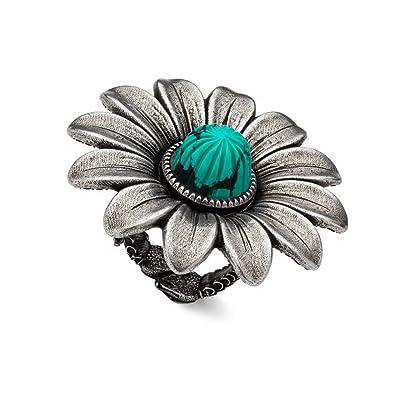 c775f176f8f Amazon.com  Gucci MARMONT Motif Flower Silver Ring Size 6