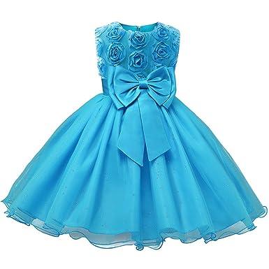 Amazon.com: Niyage Girls Party Dress Princess Flowers Wedding ...