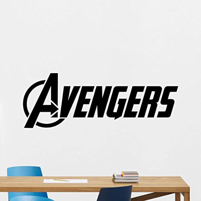 Avengers Logo Wall Decal Comics Superhero Vinyl Sticker Captain America  Hulk Hawkeye Iron Man Thor Wall Art Design Housewares Kids Room Bedroom  Decor ...