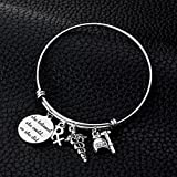 Miss Pink Stainless Steel Expandable Wire Bangle