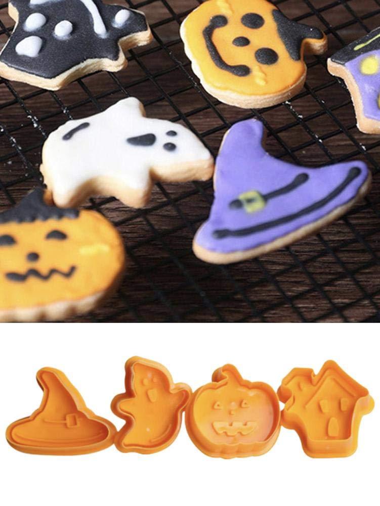 Thrivinger Cuisson Ensemble Outil Halloween DIY D/écoration De G/âteau en Plastique Moule De Coupe De Biscuit pour Halloween