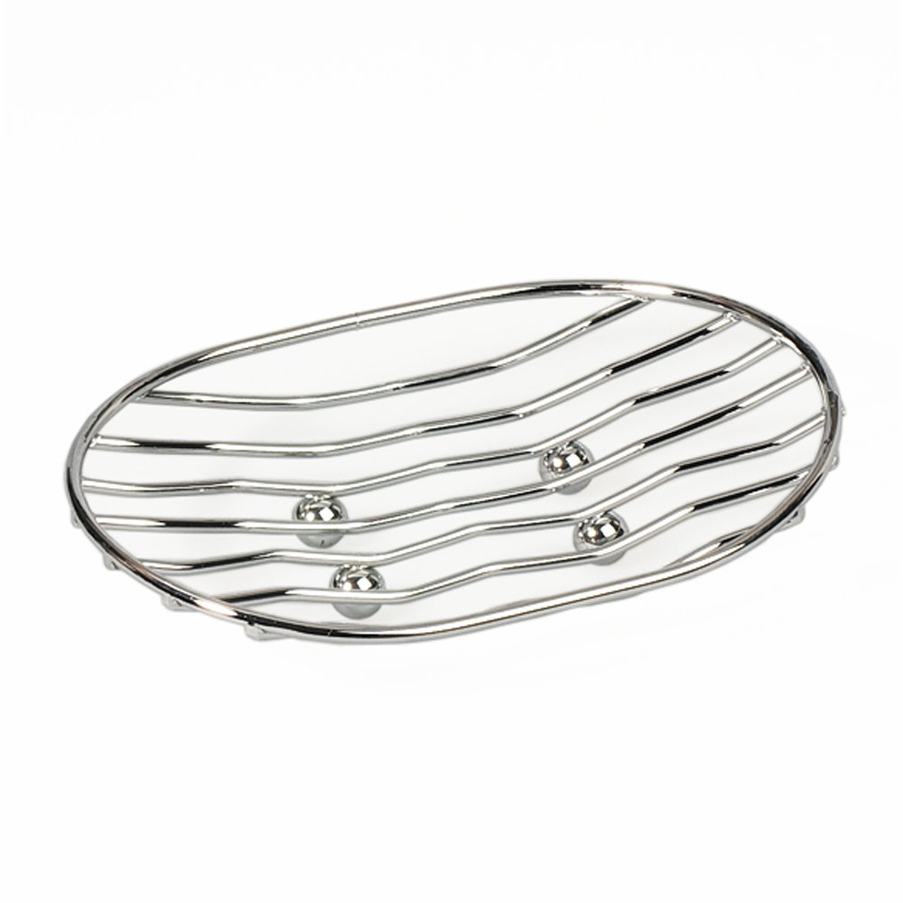 ArtMoon Teslin Oval Soap Dish Chrome Plated Steel 13X9.6X4 cm