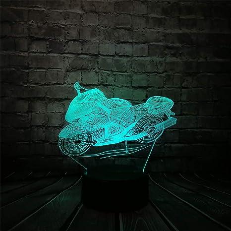RMRM Luz Nocturna 3D Enfriar La Motocicleta 3D Led Lámpara ...
