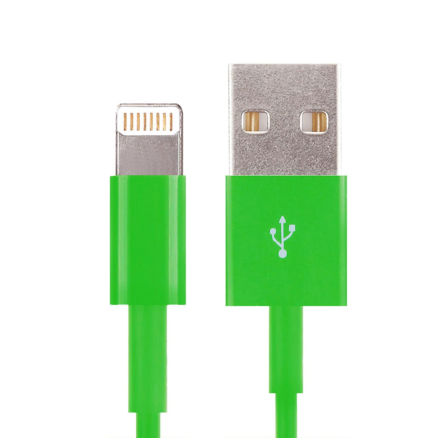 (6ft) 1 x 8 Pin Green Color USB Sync Cable Charger Cord Data for iPhone 5 5S 5C 6 6 Plus iPod Touch 5 Nano 7