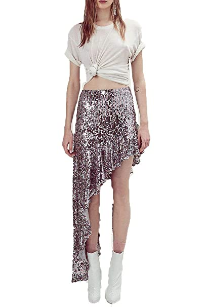 5348a160a5 for Love and Lemons - Women's Showtime Maxi Skirt - Sparkle - XS ...