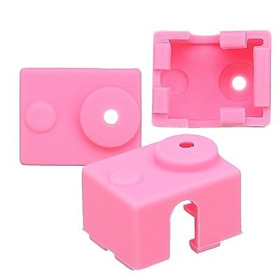 MASUNN Boîtier En Silicone Rose Pour E3D-V6 À Thermistance Pièces D'Imprimante 3D
