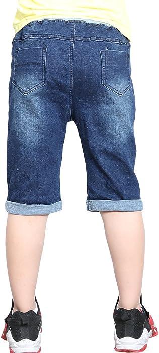 5e57a025e5 WIYOSHY Boys Classic Denim Elastic Waist Pull On Jean Shorts for ...