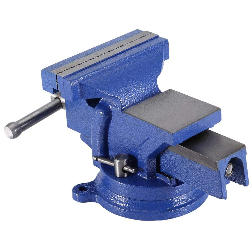 "4/"" Bench Vise with Anvil Swivel Locking Base Table top Clamp Heavy Duty Steel"