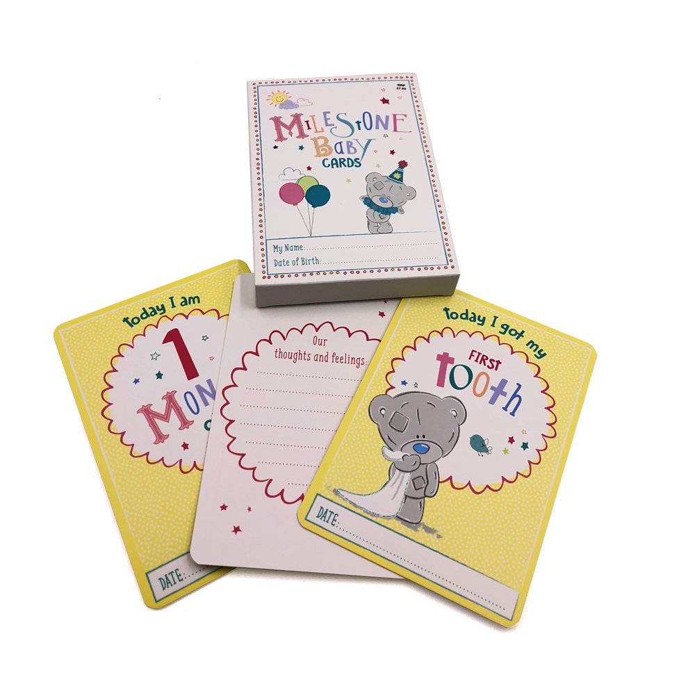 Me to You Tiny Teddy Baby 24 Milestone Cards with Foil Baby Shower Gift ukgiftstoreonline 740120103068