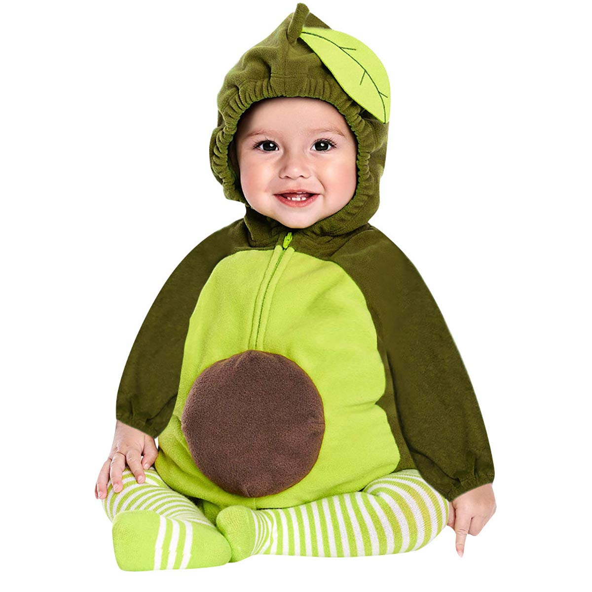 Verve Jelly Toddler Infant Boys Girls Halloween Costume Long Sleeve Hooded Romper Cosplay Party Clothes Jumpsuit Outfits