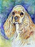 Caroline's Treasures 7178CHF Blonde Tan Cocker Spaniel Flag Canvas, Large, Multicolor