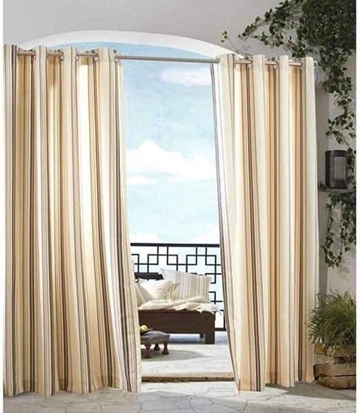Un 1 pieza 96 cortina de color sólido para exterior caqui ...