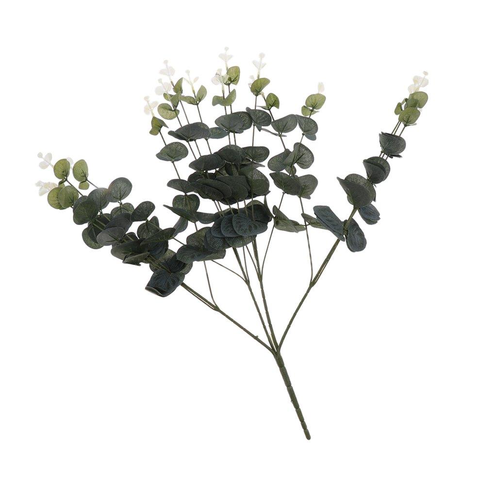 Amazon.de: Gazechimp 15 Köpfe Künstliche Eukalyptus Blätter Blumen ...