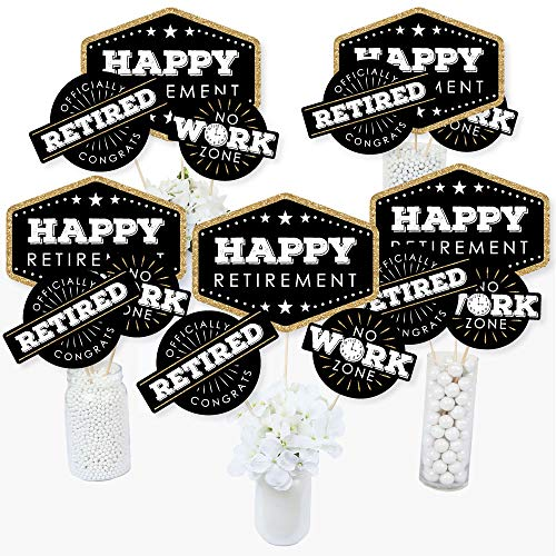 Happy Retirement - Retirement Party Centerpiece Sticks - Table Toppers - Set of 15]()