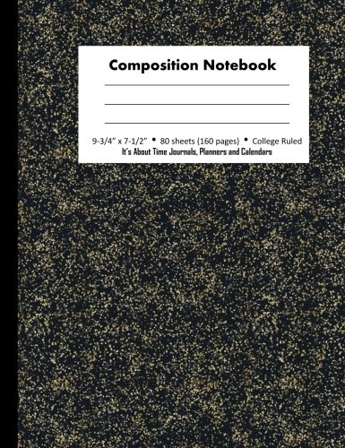 (Composition Notebook: College Ruled Specks of Gold (Better than Marble Notebook), 7.5