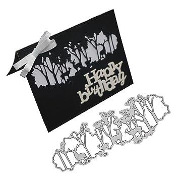 FNKDOR Stanzformen Stanzschablonen Metall Schneiden Schablonen f/ür DIY Scrapbooking Album Papier Karten Sammelalbum Dekor C