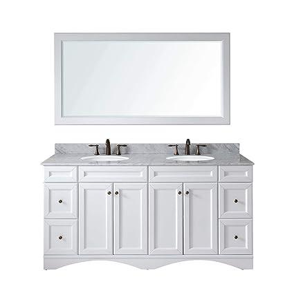 72 Inch Double Sink Bathroom Vanity Top.Virtu Usa Talisa 72 Inch Double Sink Bathroom Vanity Set In