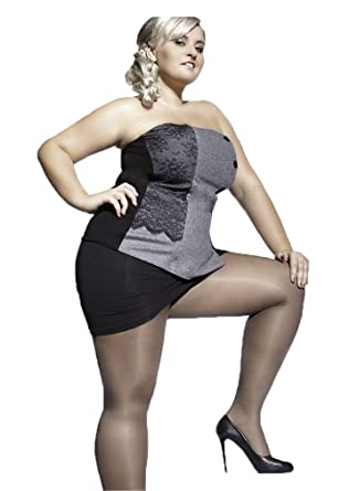 16335aa2773a5 PLUS SIZE TIGHTS KIARA 20 DENIER WITH SPECIAL COMFORTABLE GUSSET XXL to 4XL  by Adrian (