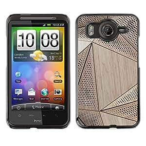 TopCaseStore / la caja del caucho duro de la cubierta de protección de la piel - Wood Architecture Pattern Engineering - HTC G10