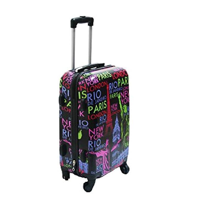 Ormi Carro de equipaje de mano cm Negro: 50x35x20 capitales OR1112: Amazon.es: Ropa y accesorios