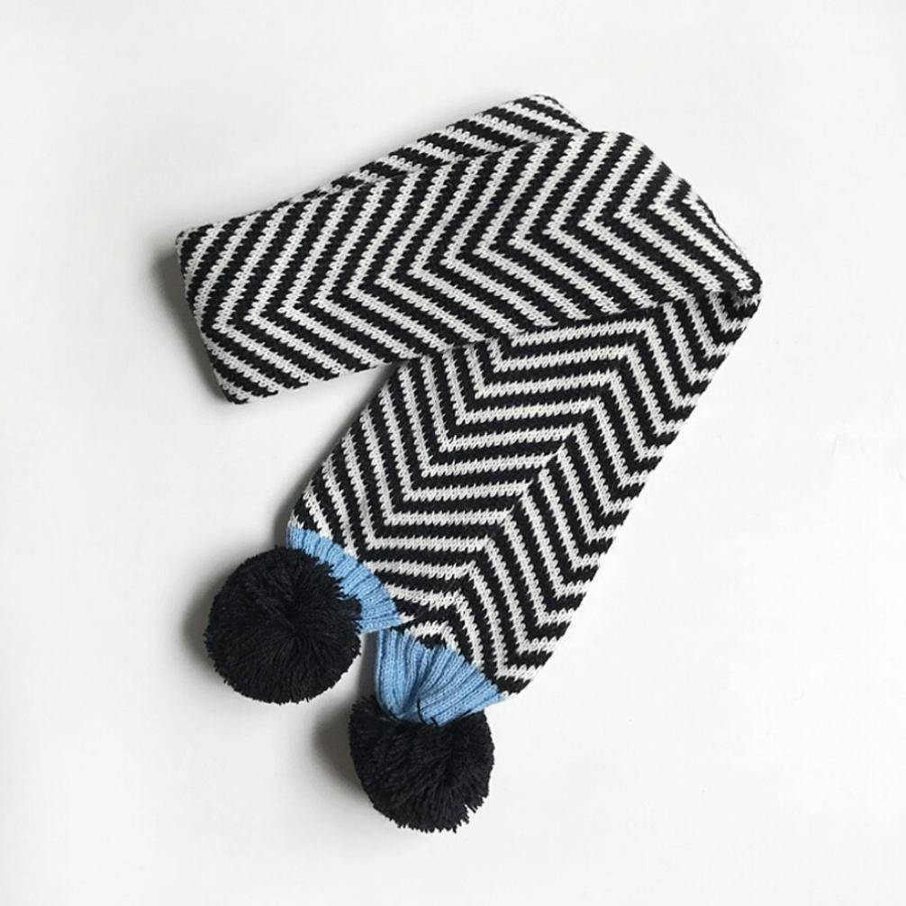 DIGOOD Boys Girls Winter Keep Warm Double Ball Knitted Cotton Neck Scarf