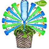 Plant Waterer Self Watering Devices, Vacation Potted Plant Watering Spikes Automatic Drip Irrigation Water Stakes System with Control Valve Switch for Garden Plants Indoor & Outdoor