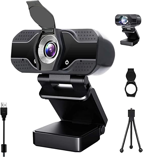 Amazon.com: Webcam with Microphone, 1080P HD USB Web Camera, Plug and Play for PC, Laptop, Computer, Desktop, for Live Streaming, Video Call, Conference, Online Classes - Auto Light Correction, Manual Focus: Computers & Accessories