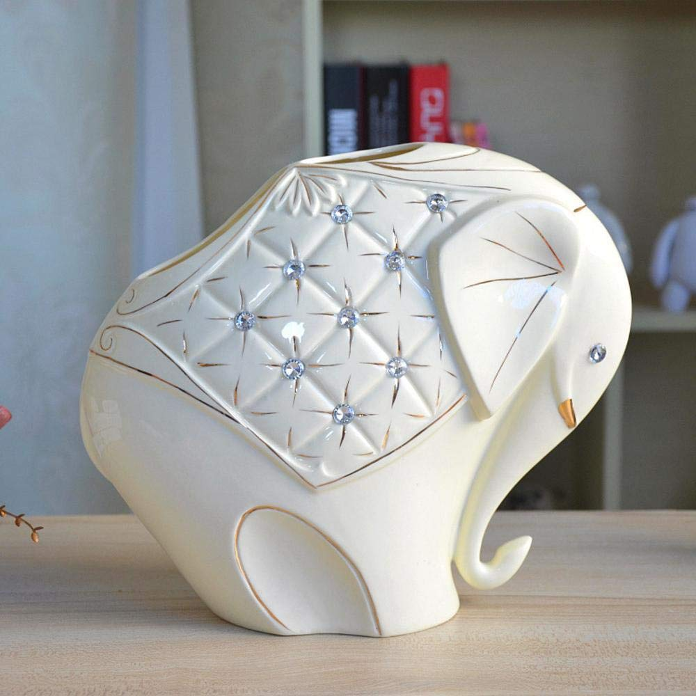 Ludage Home Accessories Crafts, Ceramic Animal vase Home Furnishing Crafts Ornaments Decoration Ornaments