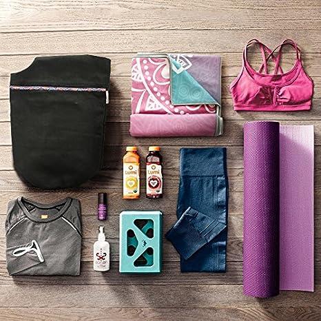 Bolsa de Yoga,Elegantes Motivos Folcl/óricos de Yoga con 2 Bolsillos y Bolso de Lona Extra Grande con Correa Ancha y Larga,Se Adapta a la Mayor/ía de las Esteras Tama/ño