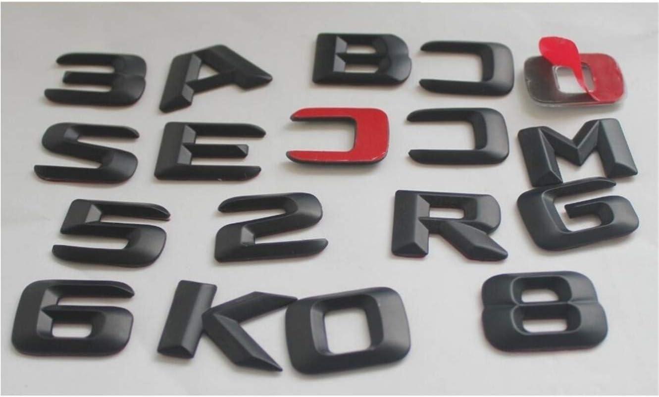 E-Class E63 E43 E55 AMG E200 E250 E300 E320 E350 E400 4MATIC CDI Rear Trunk Emblem Badge Letters Black Emblems CDI