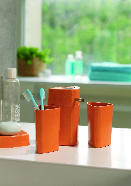 Spirella Trix Eco Mundsp/ülbecher Zahnbecher Orange Schweizer Markenprodukt