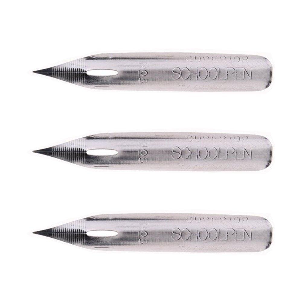 MyLifeUNIT Tachikawa School Pen Nibs, Comic T-5 SchoolPen Nib, Pack of 3 OF16L227