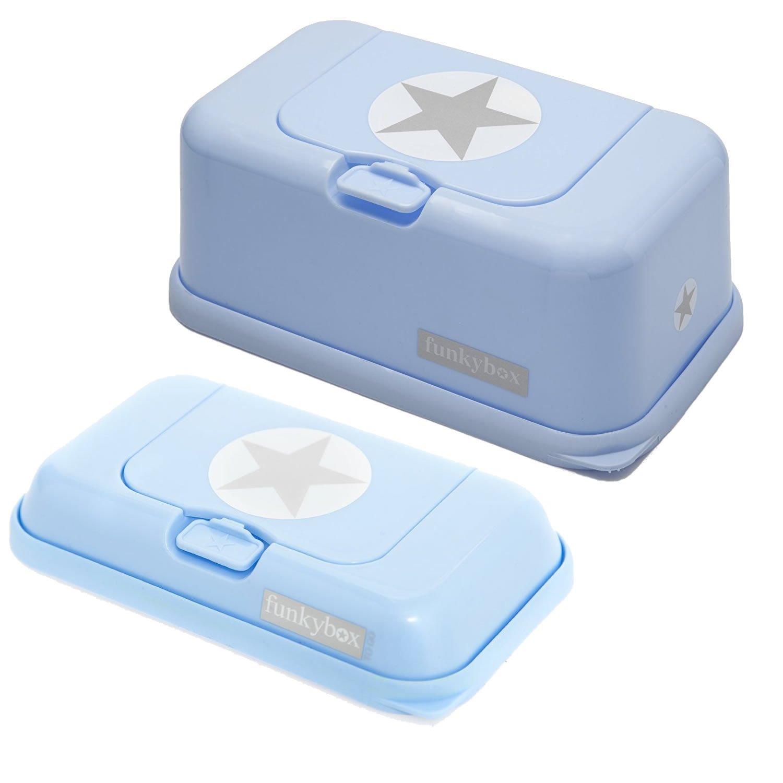 FunkyBox Azul Estrella. Set de Portatoallitas
