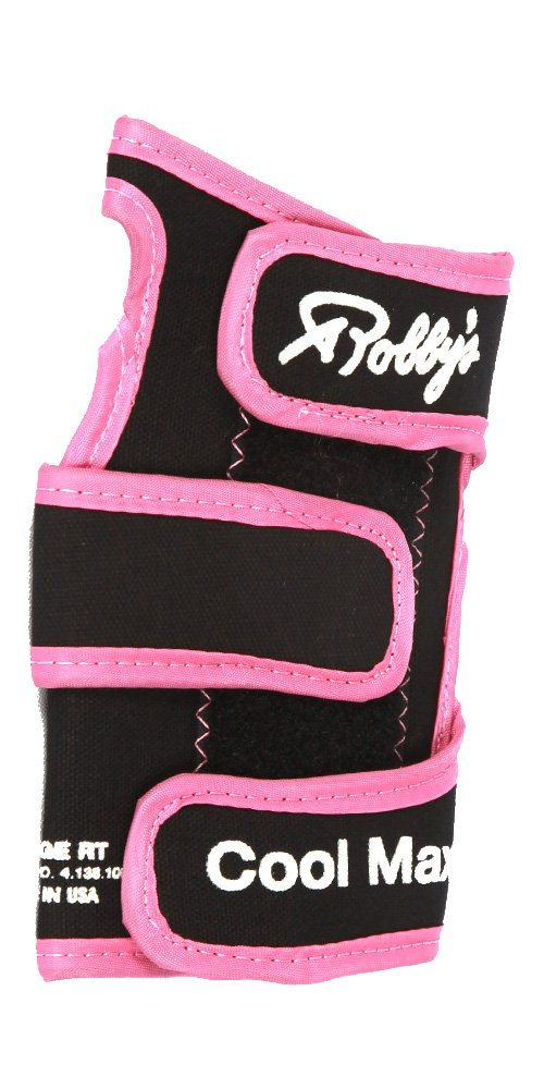 Robby's Coolmax Original Right Wrist Support, Black/Pink, Large by Robby's