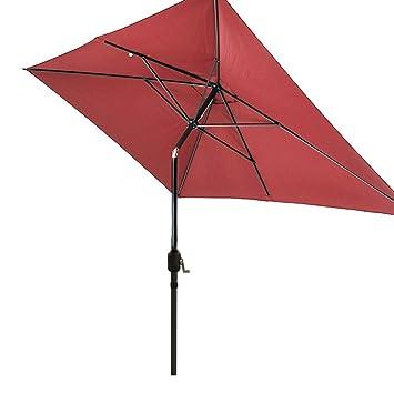 Good SNAIL 6u00276u0026quot; X 10u0027 Outdoor Rectangular Patio Umbrella Water Resistant  Garden Patio